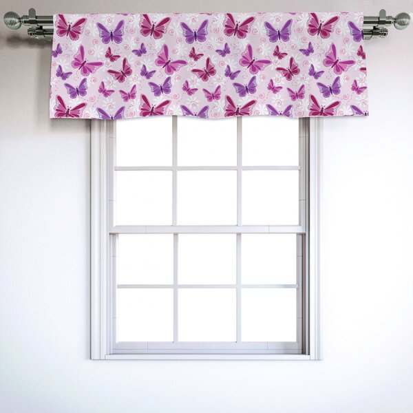 """Embroidered White Daisie  with Green Leaves on White 14/"""" X 54/"""" Window Valance"""