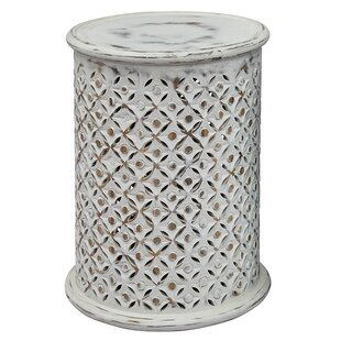 Lovely Lorraine Global Archive Drum End Table