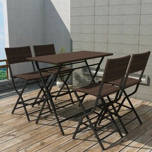 Alfred 4 Seater Rattan Dining Set By Sol 72 Outdoor