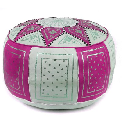 Carnuel Moroccan Leather Pouf