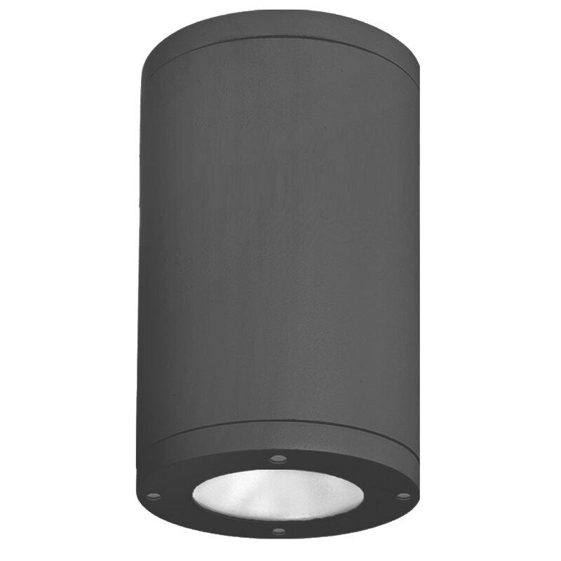 Wac Lighting Tube 1 Light 7 88 Shaded Cylinder Led Flush Mount Wayfair