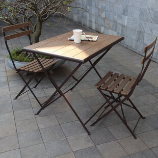 Laurel Foundry Modern Farmhouse Pensee Folding 3 Piece Bistro Set