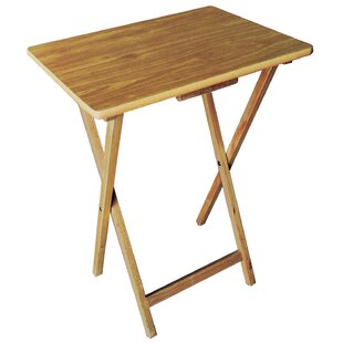 Triche Wood Tray Table Set by Foundry Select