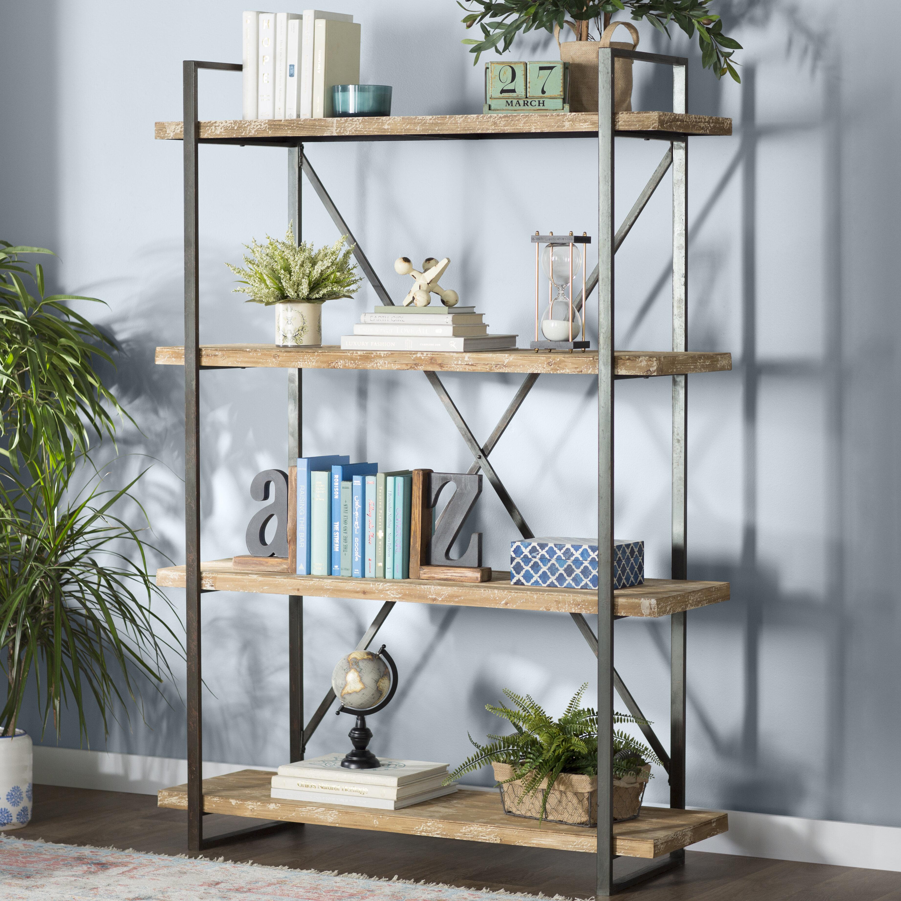 Trent Austin Design Hardwick Metal Wood Bookcase & Reviews | Wayfair