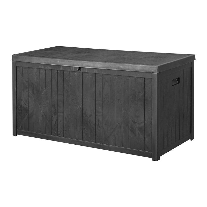 Ainfox Outdoor 113 Gallon Plastic Deck Box