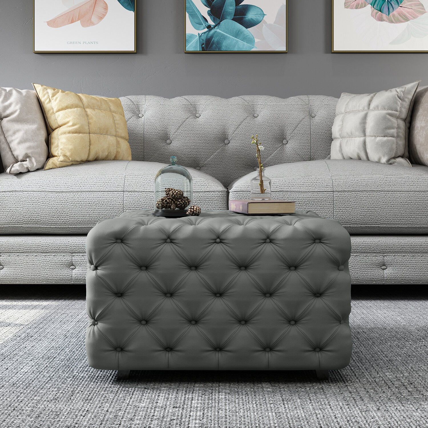 Swell Adah Square Tufted Cocktail Ottoman Gamerscity Chair Design For Home Gamerscityorg