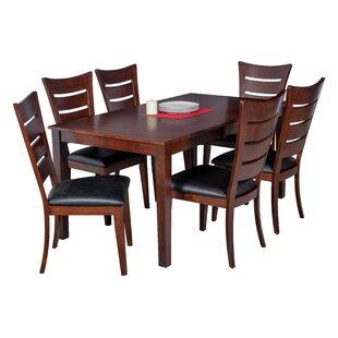 DownievilleLawsonDumont 7 Piece Solid Wood Dining Set