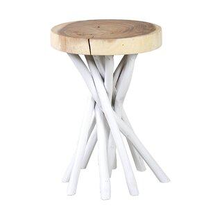 Small White Wicker Side Table Wayfair