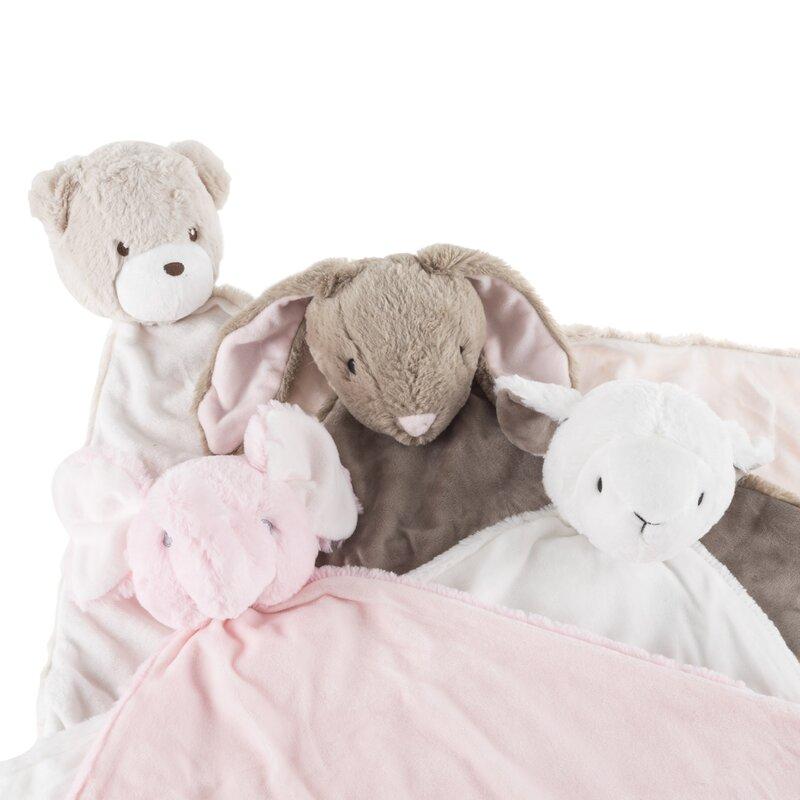 Harriet Bee Estes Bunny Stuffed Animal Security Baby Blanket Wayfair