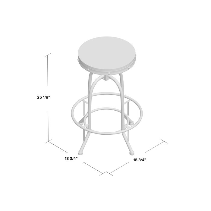 Swell Goethe Adjustable Height Swivel Bar Stool Squirreltailoven Fun Painted Chair Ideas Images Squirreltailovenorg