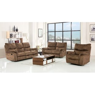 Palu Reclining 3 Piece Living Room Set by Loon Peak