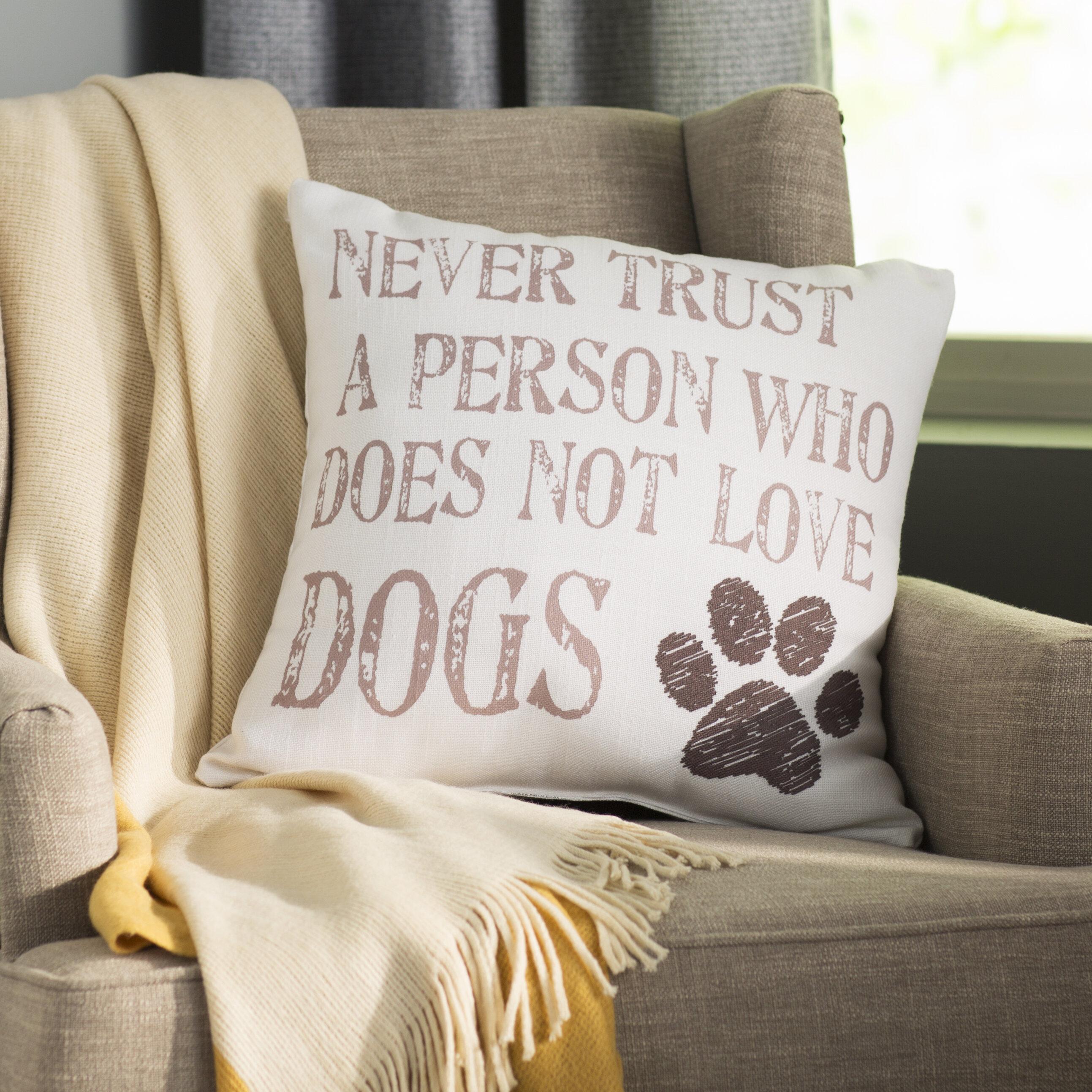 Winston Porter Kaelan Dog Lover Throw Pillow Reviews