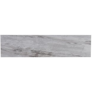 Review Mansfield Unpolished 6 x 24 Porcelain Field Tile in Silver Springs by Itona Tile