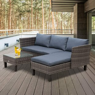 Jefferson Place 4 Seater Rattan Corner Sofa Set By Sol 72 Outdoor