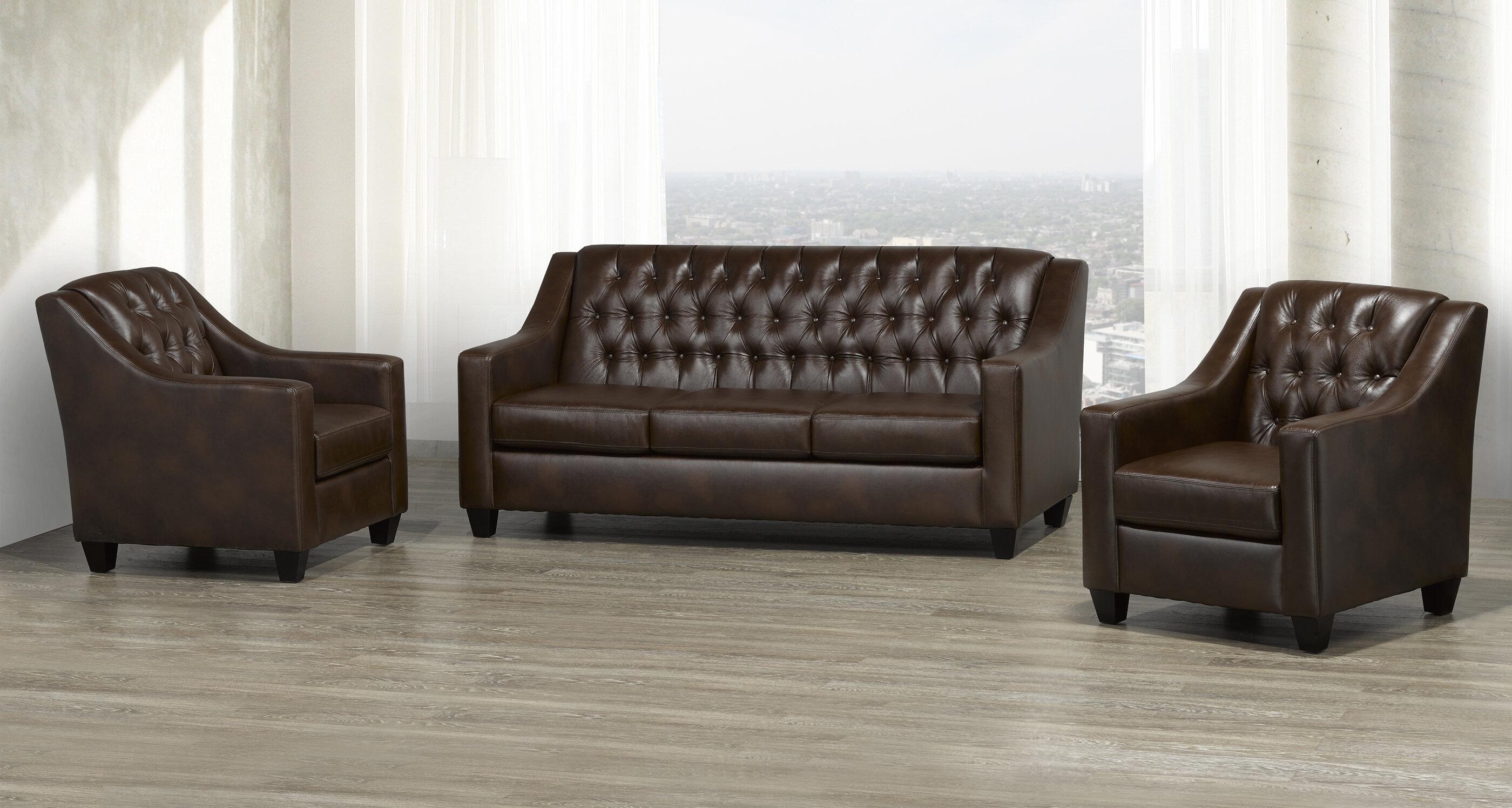 Darby Home Co Debolt 3 Piece Living Room Set Wayfair