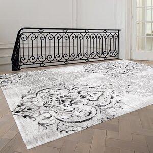 Abbate Venetian Grey/White Area Rug