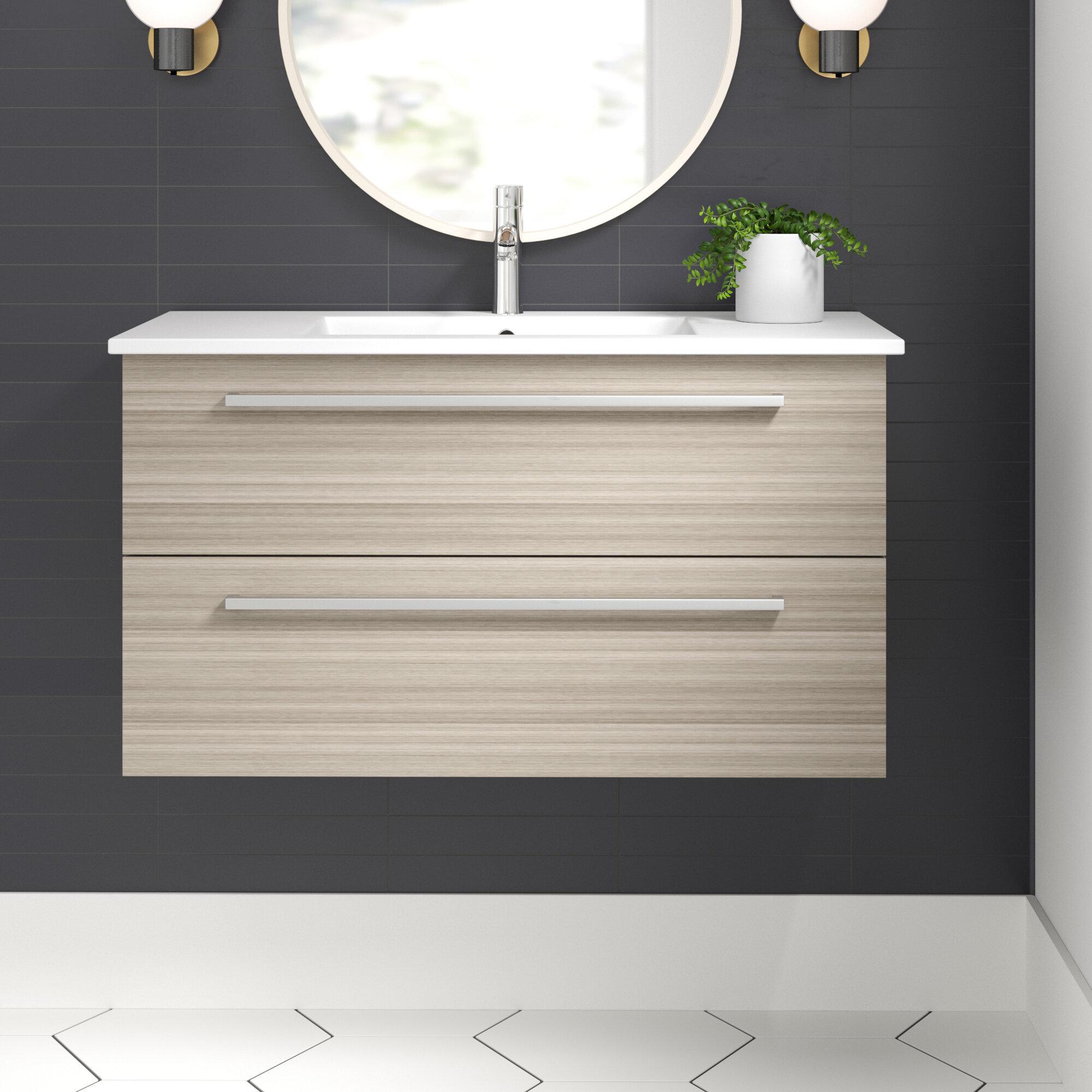 Wall Mounted Floating Bathroom Vanities Free Shipping Over 35 Wayfair
