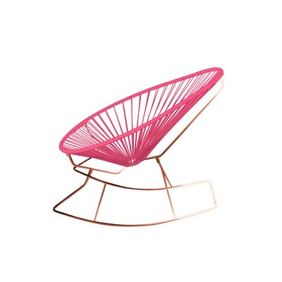 Brayden Studio Marvine Rocking Chair Color: Pink/Copper
