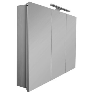 Sol 100cm X 70cm Surface Mount Mirror Cabinet With LED Lighting By Roca