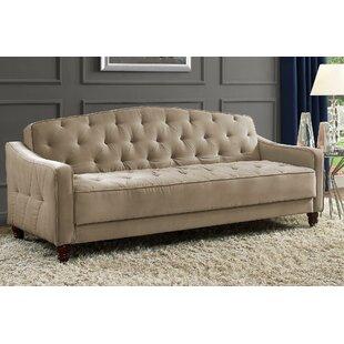 Strange Vintage Tufted Convertible Sofa Bralicious Painted Fabric Chair Ideas Braliciousco