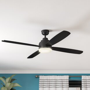 Price comparison 52 Emanuel 4 Blade Ceiling Fan with Remote By Ivy Bronx