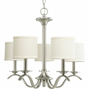 Three Posts Greenwell 5-Light Shaded Chandelier
