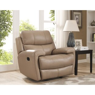 Coupon Gasser Leather Manual Glider Recliner by Red Barrel Studio Reviews (2019) & Buyer's Guide