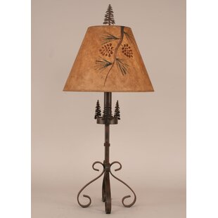 Rustic Living Iron S-Leg Pine Tree 29.5 Table Lamp
