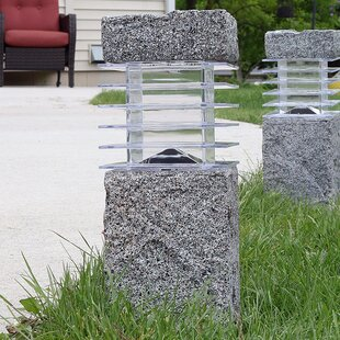 Menifee Outdoor Solar Cement 2 Light Bollard Light (Set of 4)