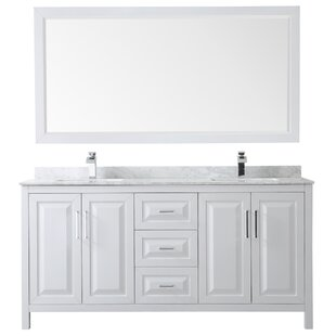 Daria 72 Double Bathroom Vanity Set with Mirror by Wyndham Collection