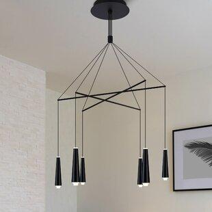 Brayden Studio Quaoar 6-Light LED Kitchen Island Pendant
