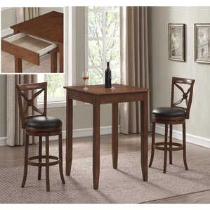 Brashears 3PC Pub Height Table Set by Darby Home Co