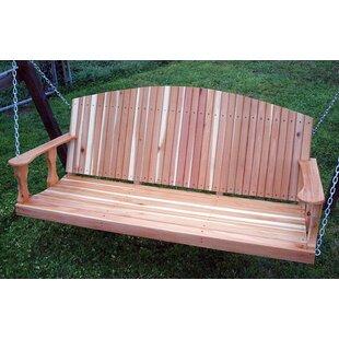 Rosecliff Heights Church Cedar Back Porch Swing
