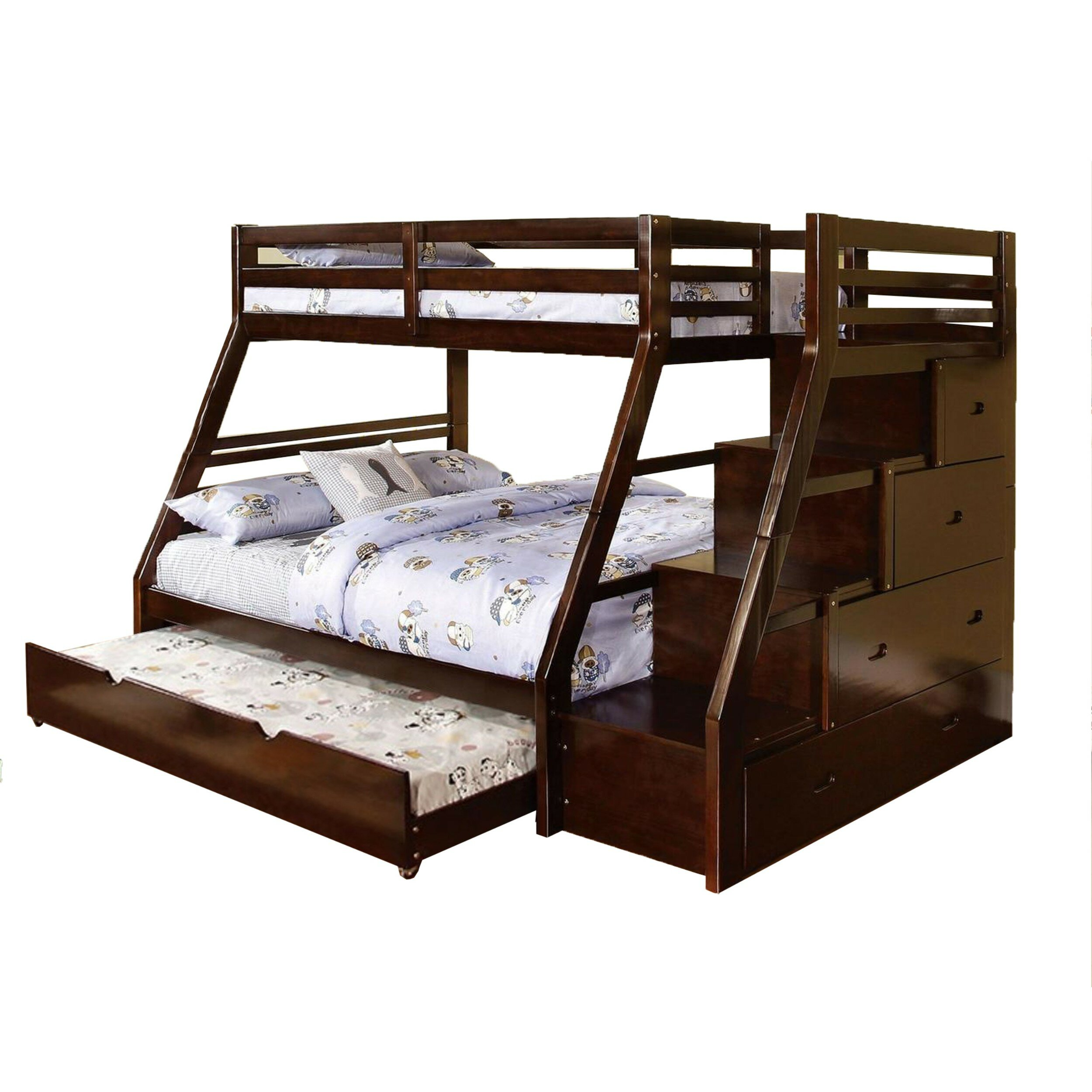 Harriet Bee Atascadero Twin Over Full Bunk Bed With Drawers