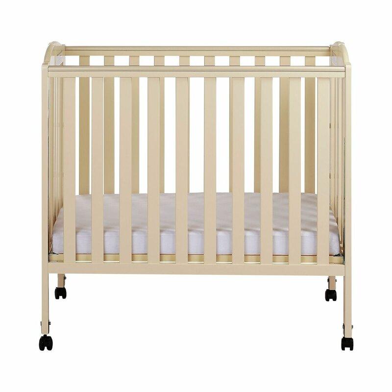 Dream On Me 3 Mini Portable Crib Mattress White