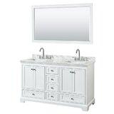Deborah 60 Double Bathroom Vanity Set with Mirror by Wyndham Collection