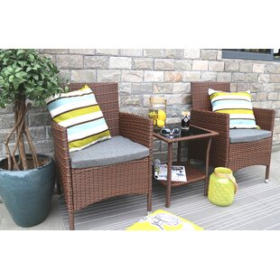 Ebern Designs Bartee 3 Piece Conversation Set with Cushions
