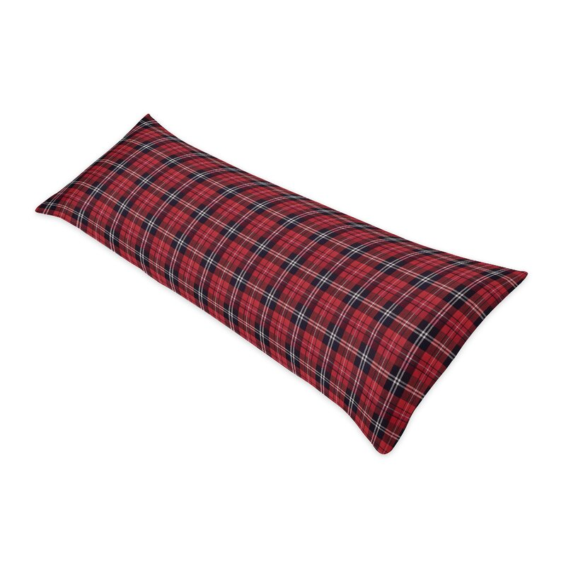 Sweet Jojo Designs Rustic Patch Plaid Flannel Body Pillow Case