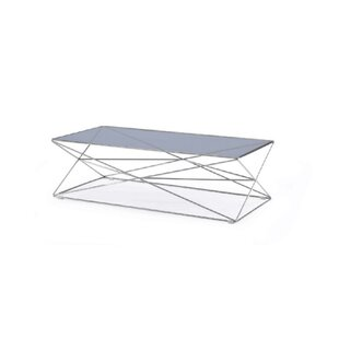 Orren Ellis Coan Metal and Glass Rectangular Coffee Table