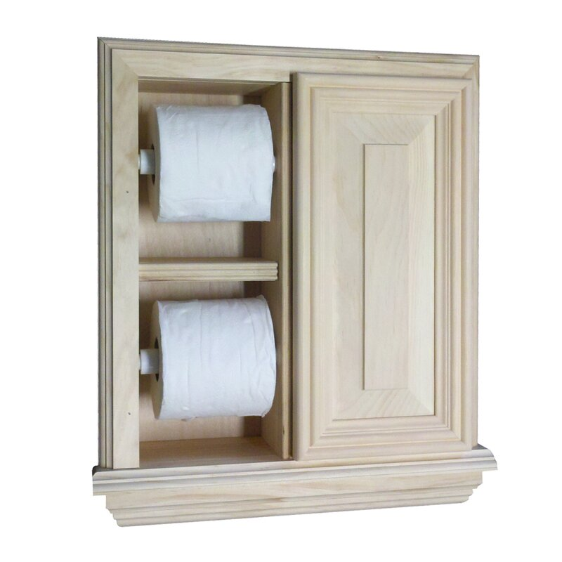 In Wall Toilet Paper Holder wg wood products recessed deluxe toilet paper holder & reviews