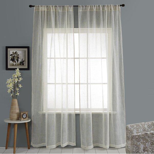 Linen Weave Curtains Wayfair