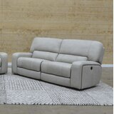 Aleverson 87 Wide Faux Leather Pillow Top Arm Reclining Sofa by Latitude Run®