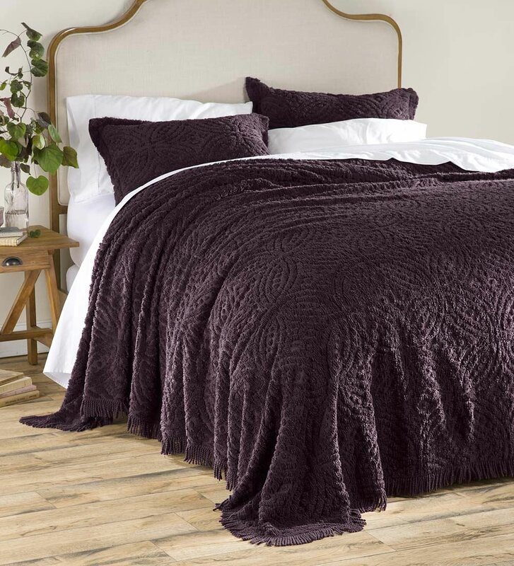 Plow Hearth Wedding Ring Tufted Chenille Bedspread Reviews Wayfair