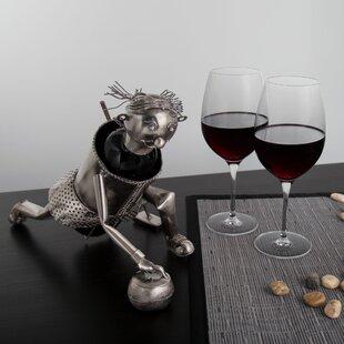 Red Barrel Studio Carlo Curling Player 1 Bottle Tabletop Wine Rack