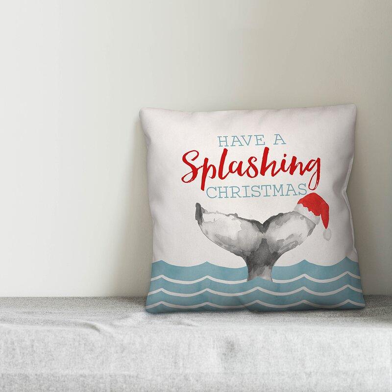 The Holiday Aisle Matilda Splashing Christmas Throw Pillow Wayfair