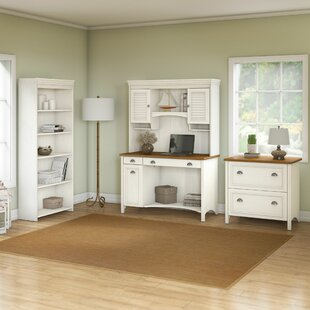 Darby Home Co Carroll 4 Piece Rectangular Desk Office Suite