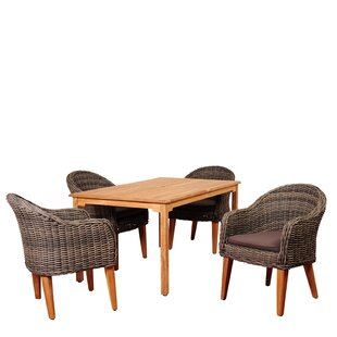 Elsmere 5 Piece Teak Dining Set with Cushions