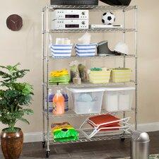 Juliet Heavy Duty Chrome Wire 75 H Six Shelf Shelving Unit by Safavieh
