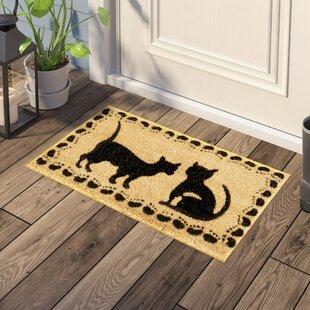 Kempf Cute Cat Doormat Wayfair