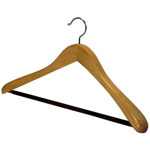 Great choice Wood Deluxe Oversized Nonslip Bar Suit Hanger ByRichards Homewares